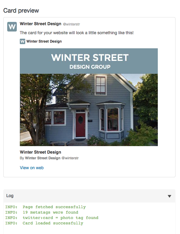 winter street twitter card preview