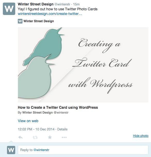 twitter photo card tweet