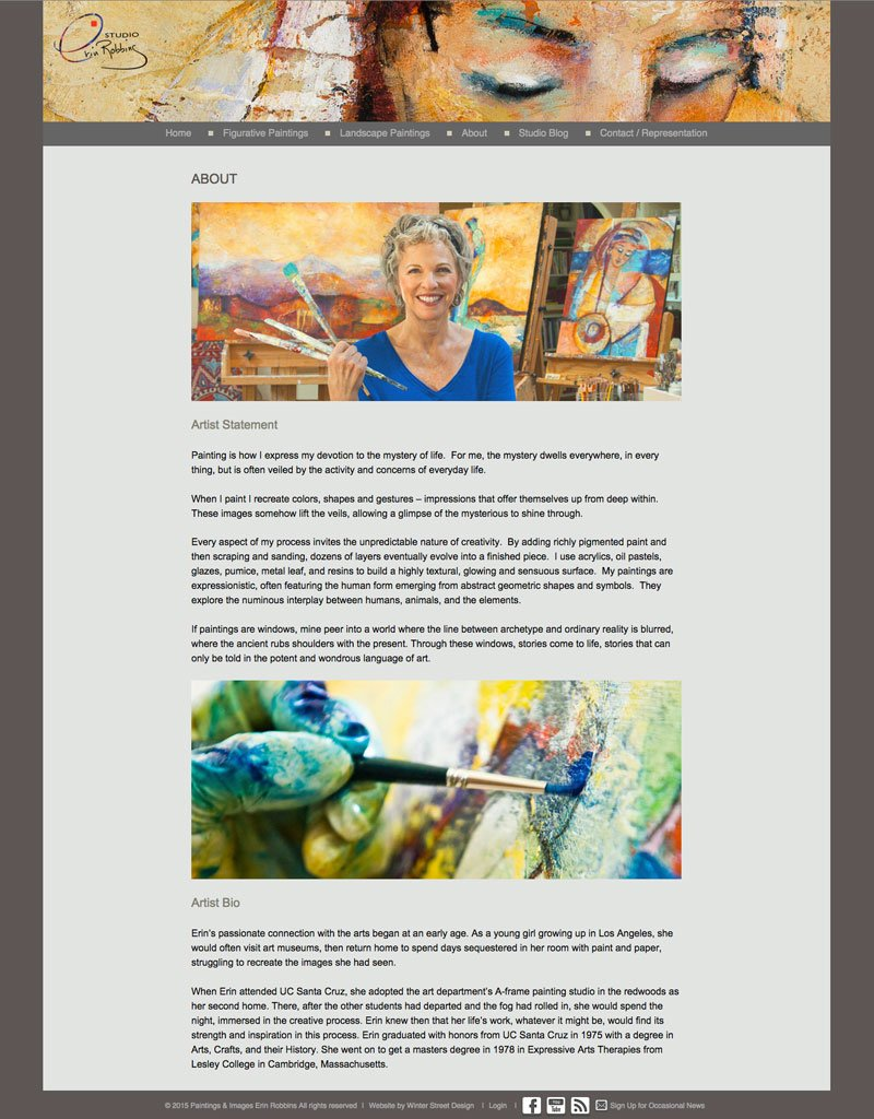 erin robbins artist website